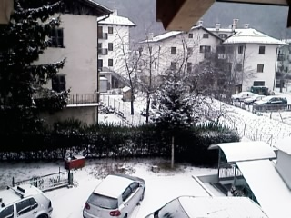 Prima neve del 2008 a Fai